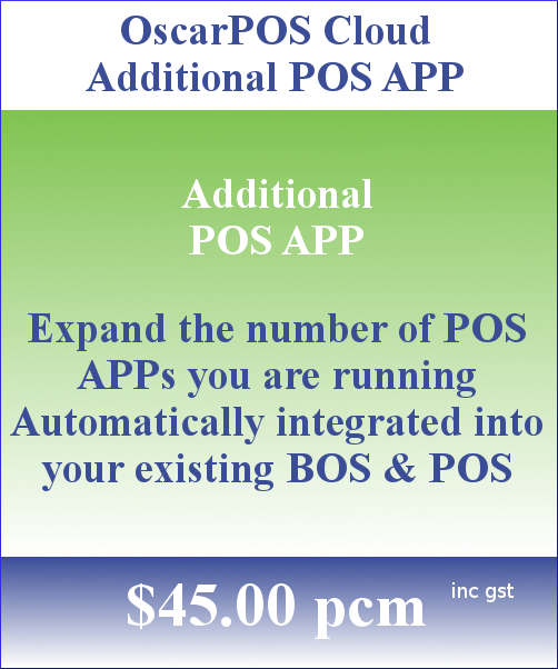 OscarPOS Cloud Pricing Block Additional POS APP