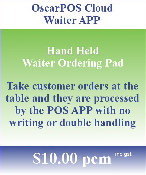 OscarPOS Cloud Pricing Block Waiter APP