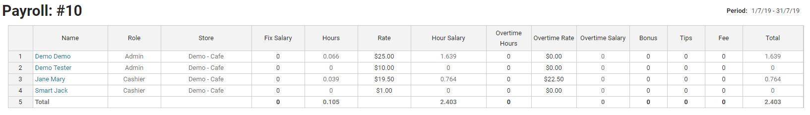 BOM - Staff - Payrolls - Add - List New Payroll