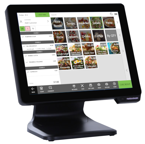 "OscarPOS Cloud Running on a 15"" PCT Touch Screen POS"