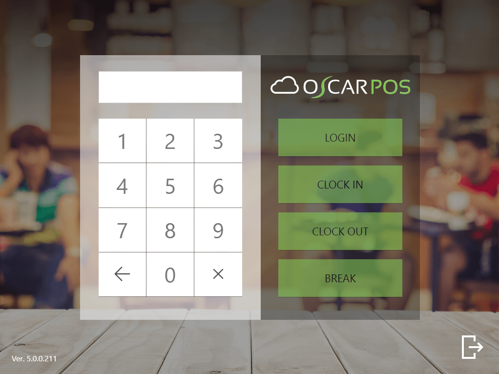 POS APP - SIGN IN SCREEN