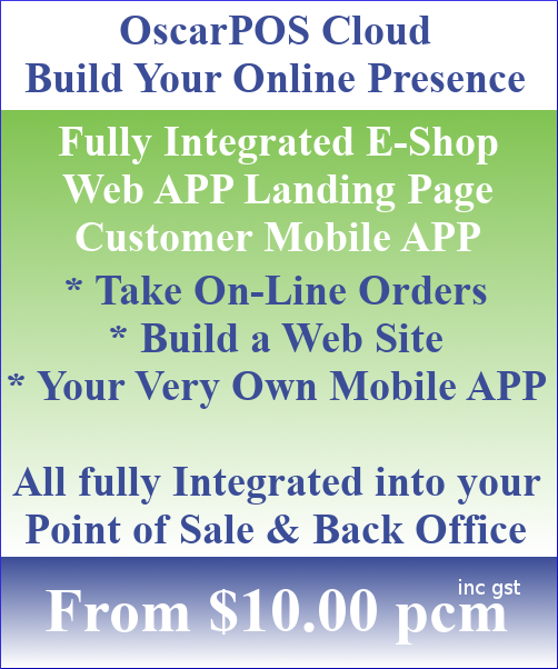 OscarPOS Cloud E-Store Online Shop Web Landing Page Customer Mobile APP