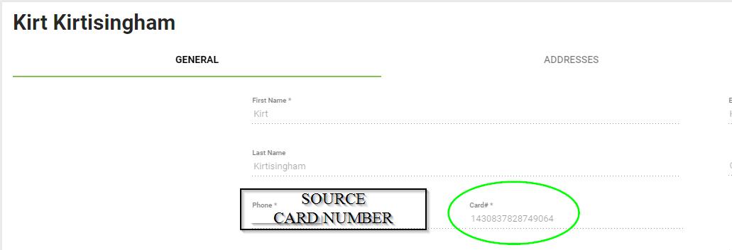 BOM - Customer List - Duplicate Card Entry - Source Card Number