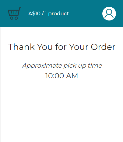 OscarPOS - Point of Sale - Time Slots - Customer Sees Example 1