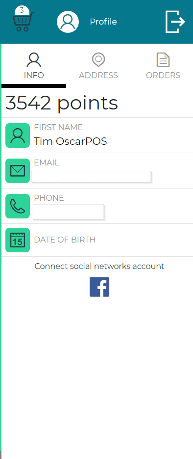Oscar Point of Sale - eCART - Profile - Info